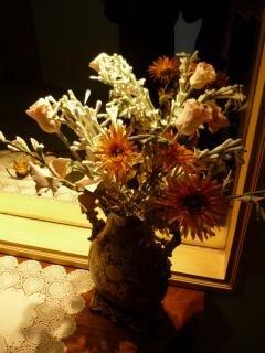flores secas, el hogar