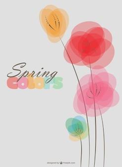 Fondo de flores de primavera