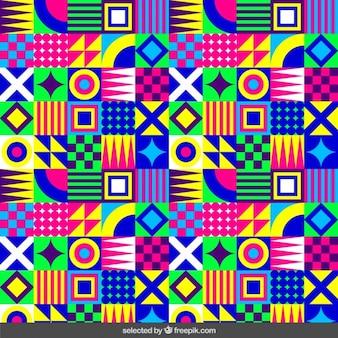 Fluor patrón geométrico