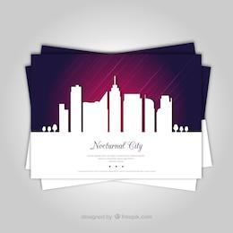 Folleto de ciudad nocturna