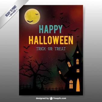 Folleto de Halloween escalofriante
