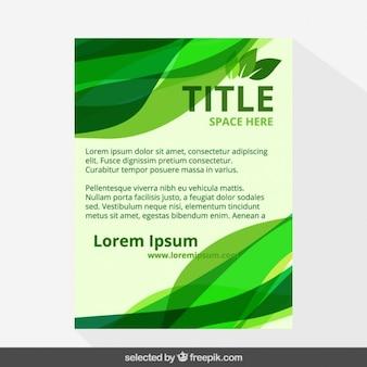 Folleto Eco en tonos verdes