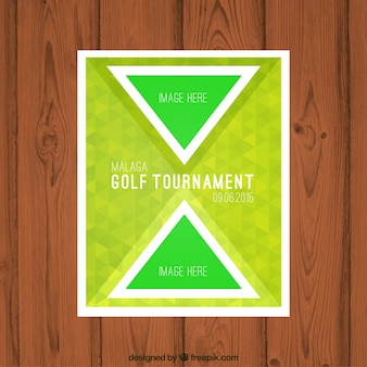 Folleto torneo de Golf