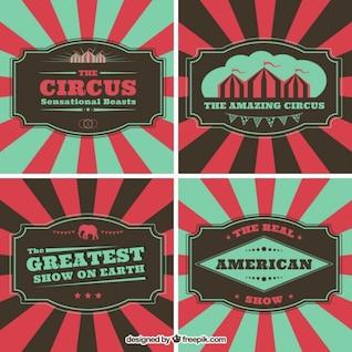 Folletos de circo en estilo vintage