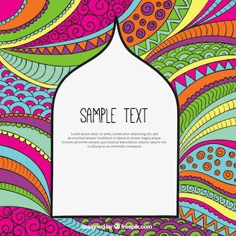 Fondo abstracto colorido en estilo árabe