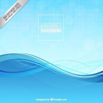 Fondo abstracto con onda azul