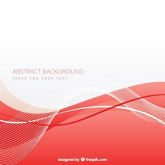 Fondo abstracto con onda roja