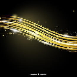 Fondo abstracto de líneas de oro
