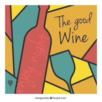 Fondo abstracto de vino