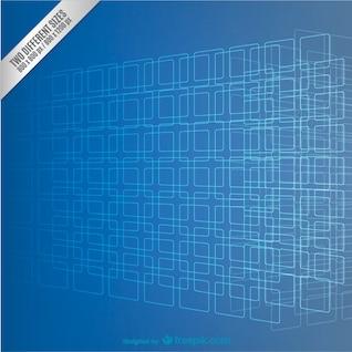 Fondo azul con cuadrados