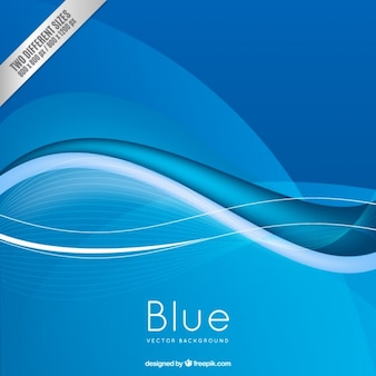 Fondo azul en estilo abstracto