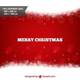 Fondo blanco y rojo de feliz Navidad