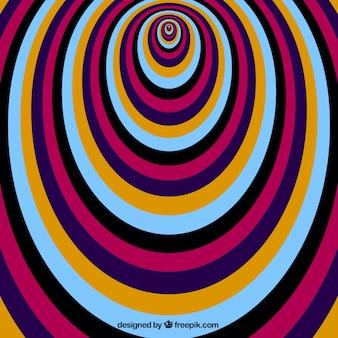 Fondo colorido de ilusión óptica