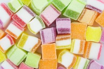 Fondo colorido del caramelo de la jalea