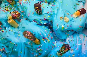Fondo colorido del helado.