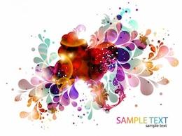 fondo colorido diseño abstracto