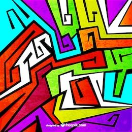 Fondo colorido estilo graffiti