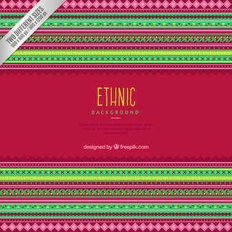 Fondo colorido étnico rayas