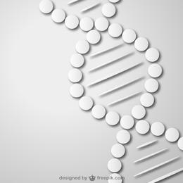 Fondo con cadena de ADN