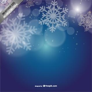 Fondo con copos de nieve