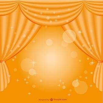 Fondo con cortina amarilla