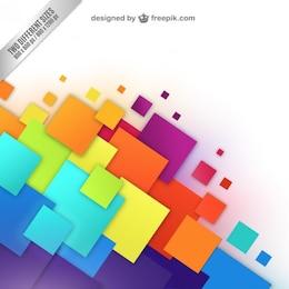 Fondo con cuadrados de colores
