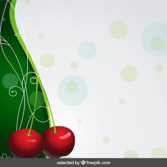 Fondo con dos cerezas