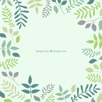 Fondo con las hojas en tonos verdes