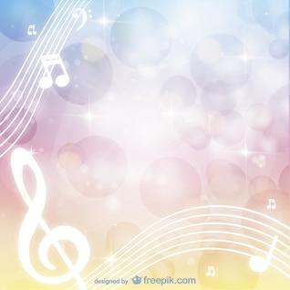 Fondo con notas musicales blancas