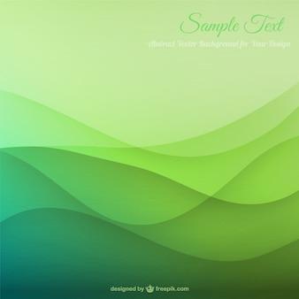 Fondo con ondas verdes