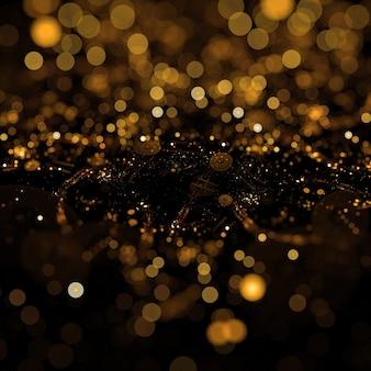 Fondo con partículas de polvo dorado