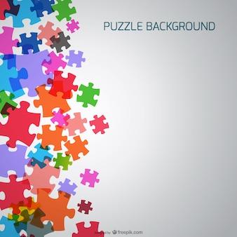 Fondo con piezas de puzle de colores