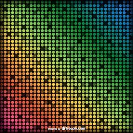 Fondo con puntos de colores