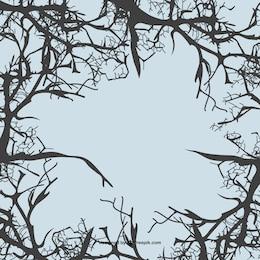 Fondo con ramas de árboles