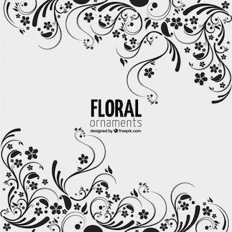 Fondo de adornos florales