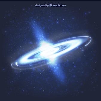 Fondo de agujero negro en el espacio