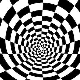 Fondo de ajedrez con efecto de ilusión óptica