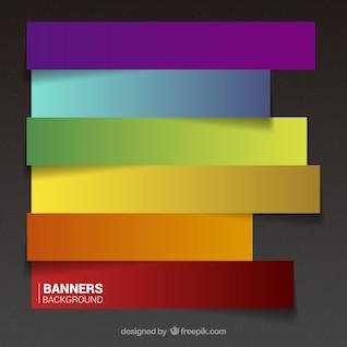Fondo de banners coloridos