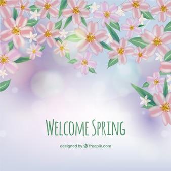 Fondo de bienvenida la primavera
