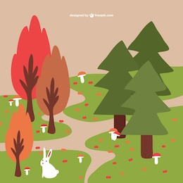 Fondo de bosques de otoño