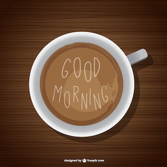 Fondo de buenos días con café