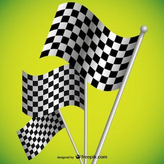 Fondo de carreras con banderas