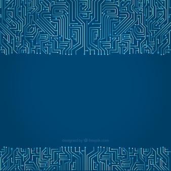 Fondo de circuito en tonos azules