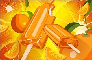 fondo de color naranja y paletas psd material en capas