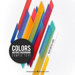 Fondo de colores en estilo moderno