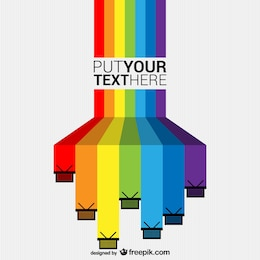Fondo de compras en arcoíris