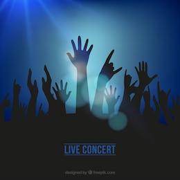 Fondo de concierto en vivo