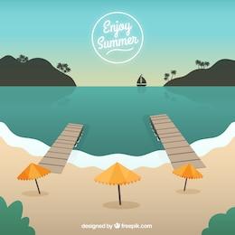 Fondo de disfruta del verano
