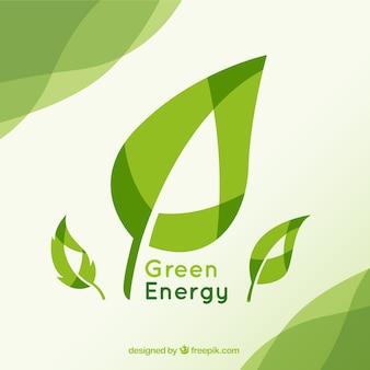 Fondo de energía verde
