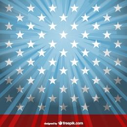 Fondo de Estados Unidos con estrellas